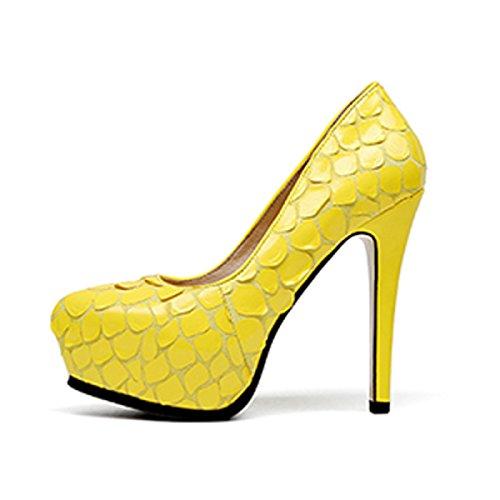 Scarpe Da Donna Tacchi A Spillo Primavera Tacchi A Spillo Estate Sexy Scarpe Da Corte 12 Cm Giallo Nero Giallo (13 Cm)