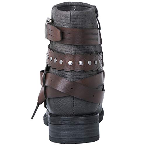 GLOBALWIN Women's 18YY18 Grey Fashion Boots 6M
