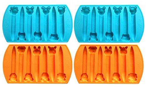 CrayOn 4 Animal Shaped Chunky Silicone Oven Safe Crayon Molds (Makes 28 Animal Crayons Total) by My Fruit Shack (Color: Ornage, Tamaño: 4)