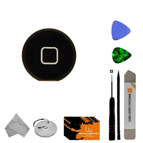 Home Button for Apple iPad 3 (Black) with Tool Kit by Wholesale Gadget Parts