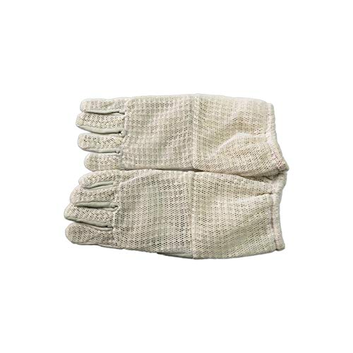 - Wangshi Three Layer Full Mesh Beekeeping Gloves with Short Sleeve Apiculture Garden Farm Bee Tool (X-Large)