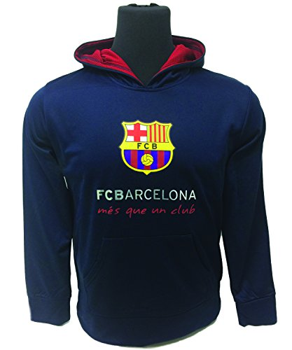Rhinox FC Barcelona Hoodie For Kids and Adults, Official Barcelona Navy Pull Over Hoodie, Hooded Sweatshirt (Small) (Team Official Hoody Sweatshirt)