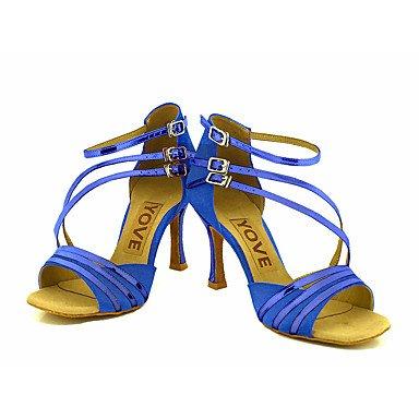 Latine Paillette Argent danse Personnalisables Chaussures de Personnalisé silver Salsa Or Bleu Talon Rouge Brillante Noir RFppfBawq