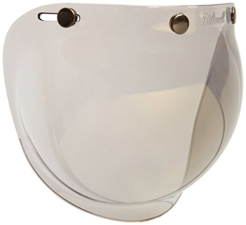Mirror Smoke Helmet Shield - Biltwell Smoke Tint Bubble Shield (Gold Mirror, One Size)