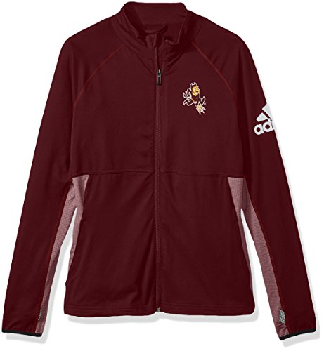 adidas NCAA Arizona State Sun Devils Adult Women Logo Performer Full Zip Jacket, Small, Maroon
