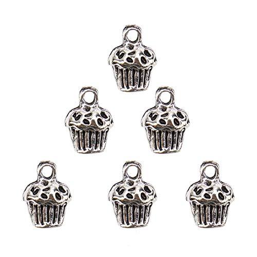 - JETEHO 60 Pcs Bakery Cupcake Charms Pendant for Bracelet Necklace Jewelry Findings