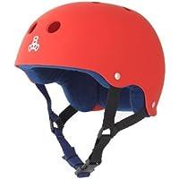 Triple 8 Brainsaver Rubber Helmet with Sweatsaver Liner (United Red, Medium)