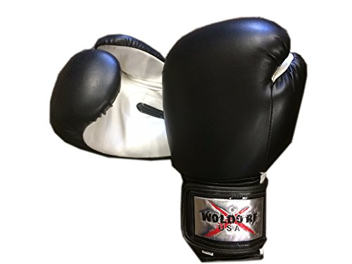 Woldorf USA Boxing Bag Gloves in Vinyl 10oz BLACK by Woldorf USA