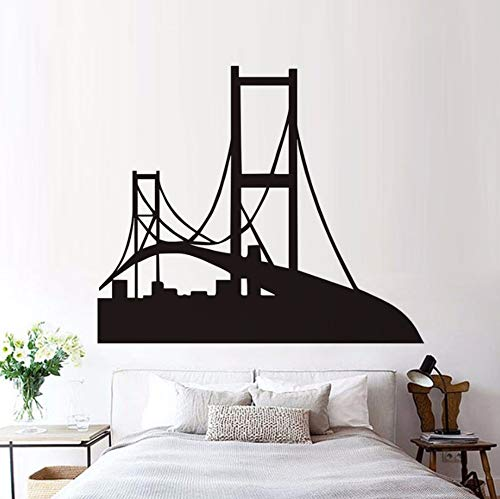 (Dalxsh San Francisco Silhouette Wall Decal Golden Gate Bridge Vinyl Removable Wall Sticker for Living Room Home Decor)