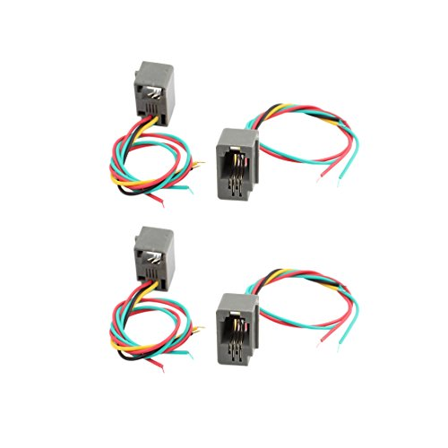 uxcell 4Pcs 4 Wires Lead 616E 4P4C RJ9 Female Socket Telephone Connector Adapter from uxcell