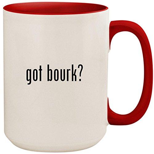 got bourk? - 15oz Ceramic Colored Inside and Handle Coffee Mug Cup, Red