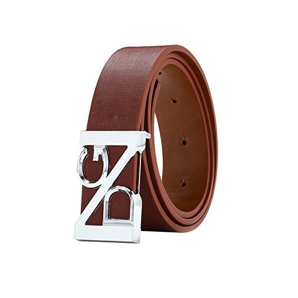 Firally Unisex Moda Cintura in Pelle con Fibbia Automatica Cinture Elegante per Jeans,Pantaloni Casual o Formali 1 spesavip