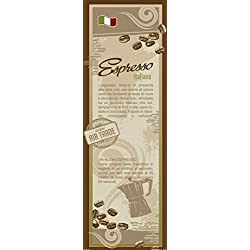 Posters: Coffee Poster Art Print - Espresso Italiano, In Italian (62 x 21 inches)