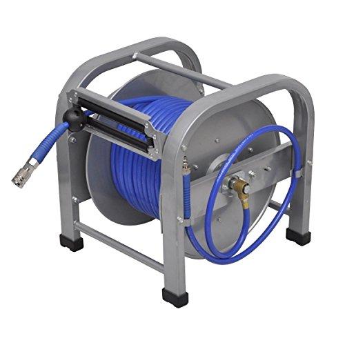 Retractable Air Compressor Pu Hose Reel  Automatic Pneumatic 98 5  300 Psi
