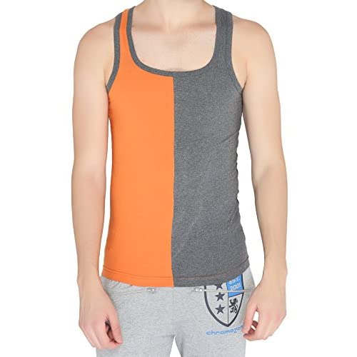 Hot Chromozome Mens Sporty Fashion Undershirt, Tank Top in Premium 100% Cotton Fabric, Square Neck with Regular Fit