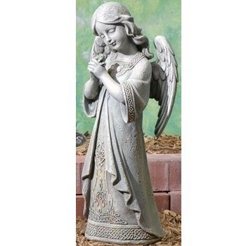 Garden Collection, Praying Celtic Angel Statue, 15.75