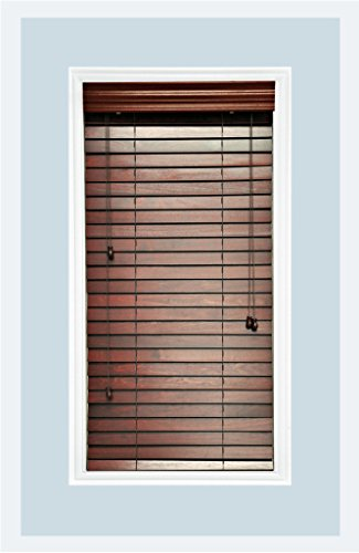 Custom-Made, Premium Real Wood Horizontal Window Blinds, 2