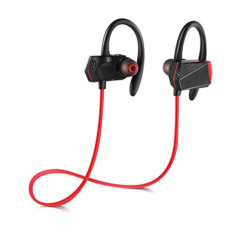 Q-YEE Bluetooth Headphones, Wireless 4.1 In Ear Stereo Earbuds Secure Fit for Sports with Built-in Mic.