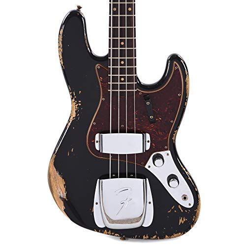 - Fender Custom Shop Limited Edition 1960 Jazz Bass Heavy Relic Aged Black