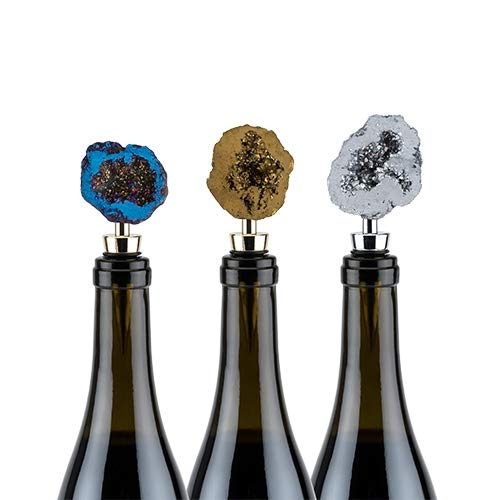 Decorative Wine Stopper Assorted Geode Reusable Wine Stopper - Set Of 12 (Sold by Case, Pack of 12)