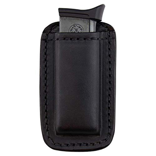 Relentless Tactical Leather Magazine Holder | Made in USA | Sizes to fit virtually Any 9mm.40.45 or .380 Pistol Mag | Single or Double Stack | IWB or OWB 380 Black