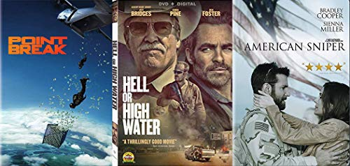 Ex-Convict Crimals & Hell Or High Water + Point Break Action & American Sniper Mission Bundle 3-DVD ()