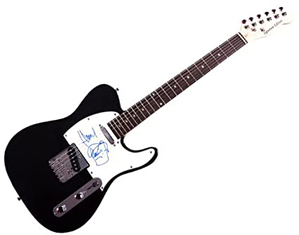 Jamie Hewlett autografiado, Murdoc Sketch Gorillaz tele guitarra ...