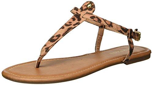 Leopard Thong Sandal - Rampage Women's Pashmina Flat Sandal, Leopard Fabric, 10 M US