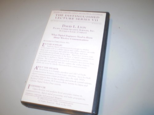 What Digital Engineers Need to Know About Wireless Communications - David L. Lyon - 1994 VHS