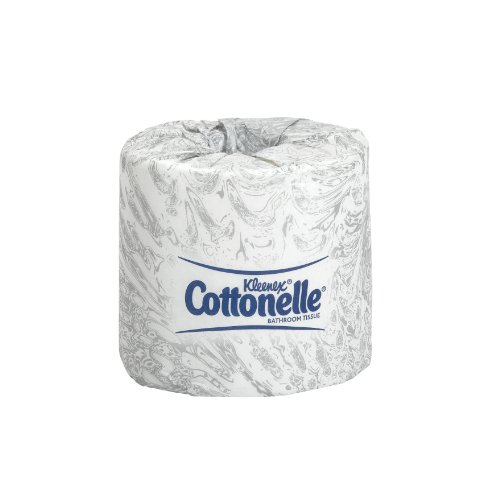 Bath Tissue 1000/2 Ply (Kimberly-Clark Professional 17713 Kleenex Cottonelle Bathroom Tissue 4X4.5 2 Ply White (Case of 60 Rolls))