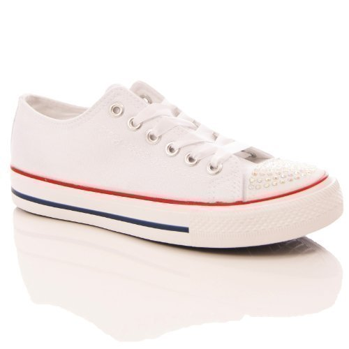 shoes dia te encrusted flat canvas plimsoll 0Sp52crLE