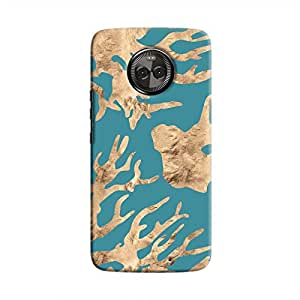 Cover It Up - Navy blue Nature Print Moto X4 Hard case