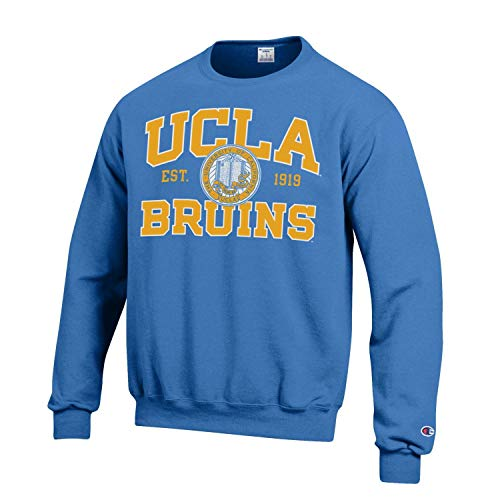 Champion University of California Los Angeles UCLA Bruins Crew-Neck Sweatshirt-Blue