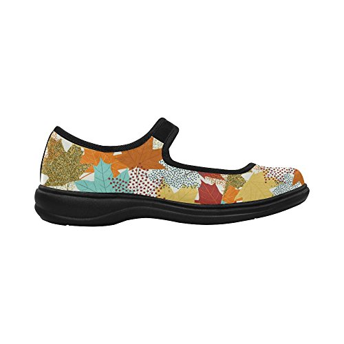 InterestPrint Womens Comfort Mary Jane Flats Casual Walking Shoes FpLCgME
