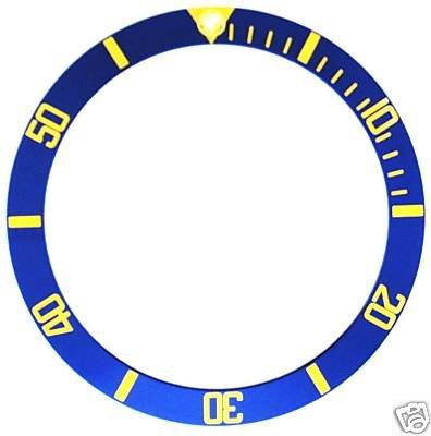 Bezel Insert for Rolex Submariner Blue 16610, 16613 G/F