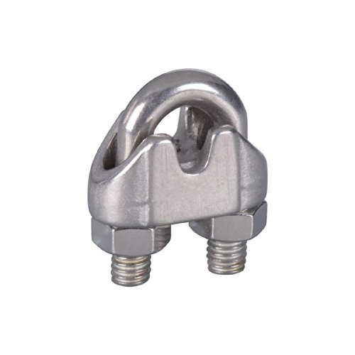 National Hardware N348-896 25 Pack V4230 3/16in. Wire Cable Clamps, Stainless Steel by National Hardware