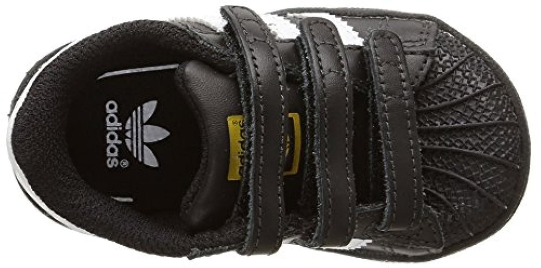 adidas Unisex Kids' Superstar Foundation Trainers, Black (core Black/ftwr White/core Black), 19