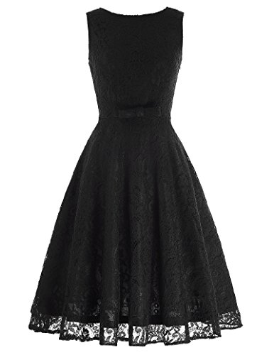 Belle-Poque-Womens-Vintage-Sleeveless-Dress-Lace-A-Line-Dress-with-Bow-Knot-BP272