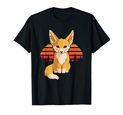 Retro Vintage Fennec Fox T-Shirt Kids Girls Cute Foxes ()
