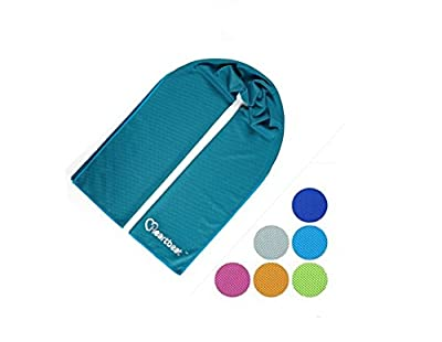 Cooling Towel by Gobi Cool.Special Bamboo Charcoal microfibres turn instantly Ice cold when wet,Innovative cooling elements for Instant relief from heat.Use for sports,fitness and everyday use