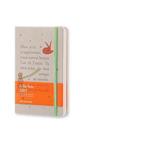 Moleskine 2017 Le Petit Prince Limited Edition Daily Planner, 12M, Large, Light Grey, Hard Cover 5 X 8.25