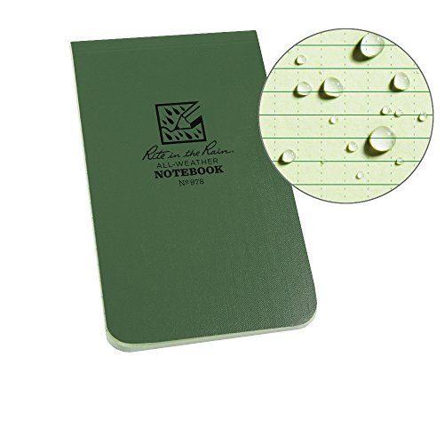 Field Book Flex Bound - Rite in the Rain Weatherproof Soft Cover Top Bound Notebook, 3 1/4