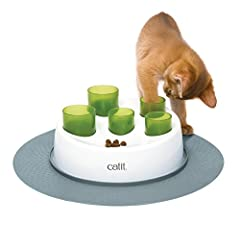 The Catit Senses 2.0 Digger encourages cats to work for their food/treats in a fun and natural manner. As cats are true hunters, they need to be able to search and locate food in different locations around the house. The Senses 2.0 Digger incorporate...