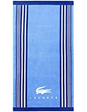 "Lacoste Oki 100% Cotton Beach Towel, 36""W x 72""L, Bright Blue"
