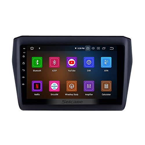 9 inch Android 9.0 Head Unit Car Radio for Suzuki Swift 2017-2019 with Bluetooth USB WiFi Support SWC 1080P(8-Core, 4G+32G (Best Chinese Double Din Head Unit 2019)
