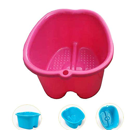 Sweetdecor Foot Bath Large Foot Spa Bucket Foot Basin for Soaking Foot,Pedicure,Spa and Foot Massage (Hot Pink) ()