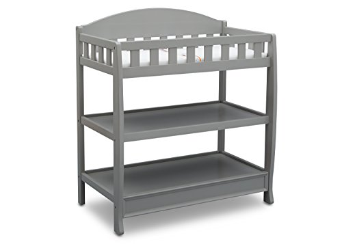 (Delta Children Infant Changing Table with Pad, Grey)
