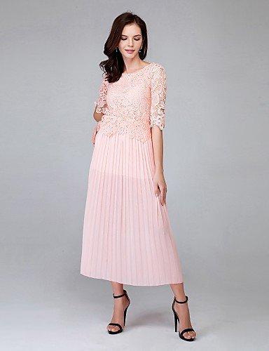 PU&PU Robe Aux femmes Ample Couleur Pleine Au dessus du genou Polyester , pink-one-size , pink-one-size