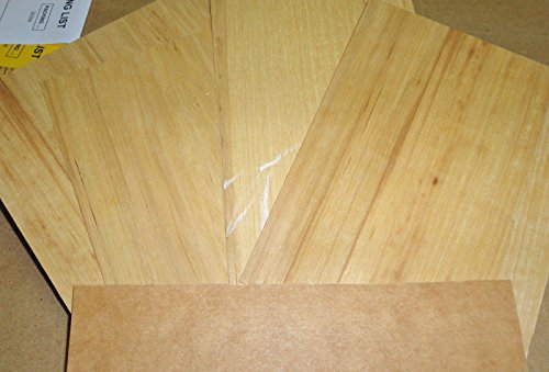 Hickory (Pecan) sample pack = 5 pieces with paper backer (4