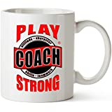 """MUG -""""Thanks Coach EMBLEM"""" Sports GIFT MUG Awesome team sports gift - your COACHES will love 'em! Play Strong Thanks Coach! #AllProfitsToHelpKid"""